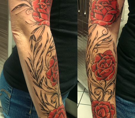cindy flower sleeve